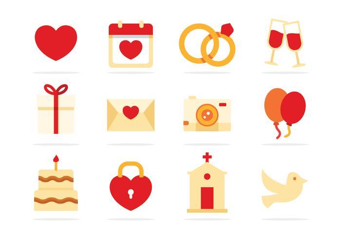 平面結婚式icon素材無料精巧なパターン イラスト素材ダウンロード