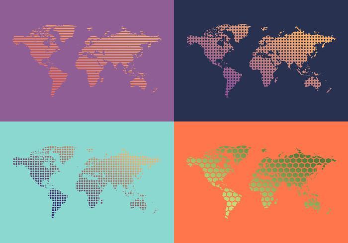世界地圖壁紙圖向量圖形素材下載