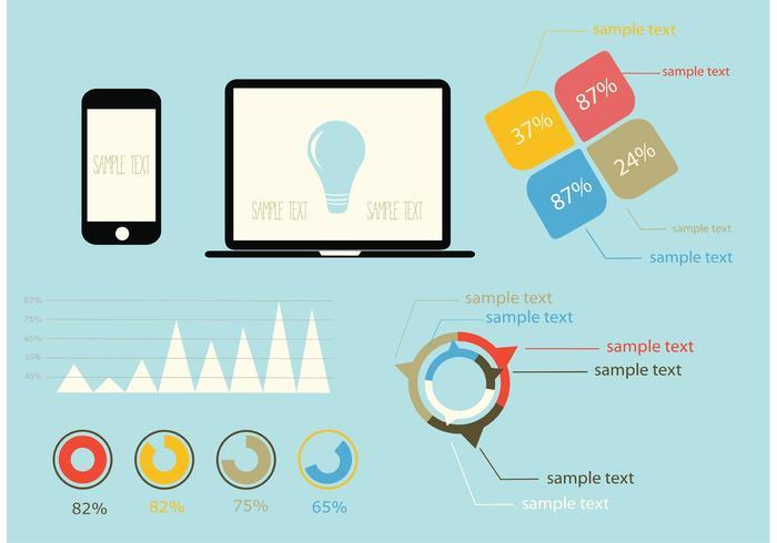 インフォグラフィックデザイン要素ベクター素材素材ダウンロード
