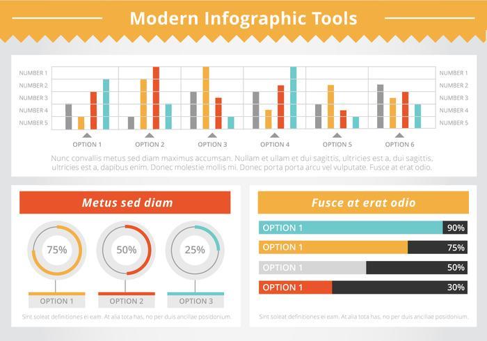 インフォグラフィックツールの要素パターン素材ダウンロード