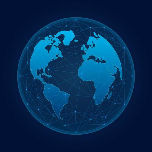 未来のグローバリゼーション・インタフェース科学と技術抽象的なグラフィックスパターンダウンロード