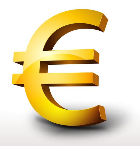 ゴールドユーロ通貨パターン素材無料ダウンロード