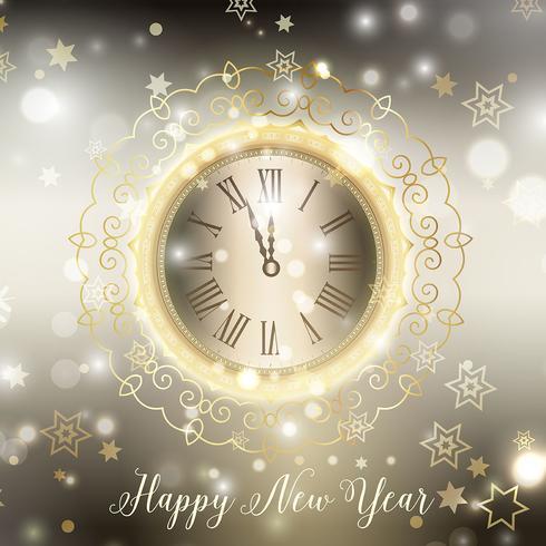 黃金新年快樂壁紙素材包下載