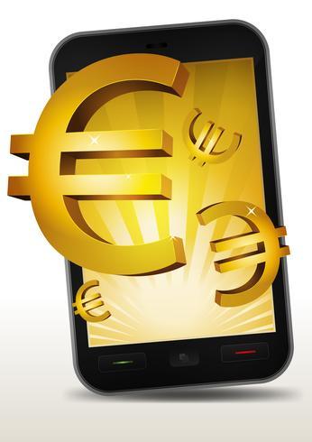 スマートフォン内のゴールデンユーロパターン素材ダウンロード