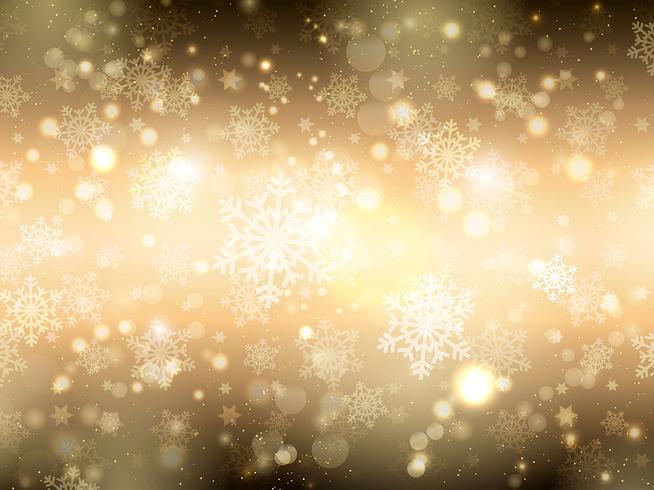 金色的雪花背景圖免費下載