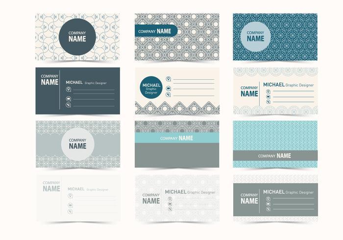 グラフィックデザイン名刺パターン素材集ダウンロード