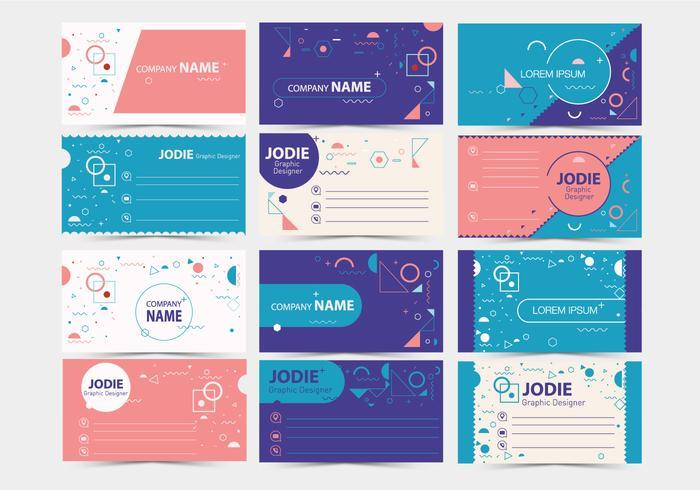グラフィックデザインビジネスカード2ベクター素材無料