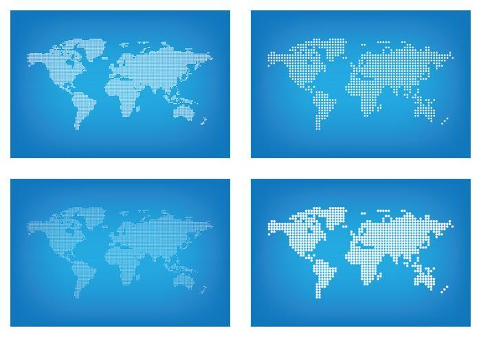 グラフィックワールドマップドットパターン無料ダウンロード