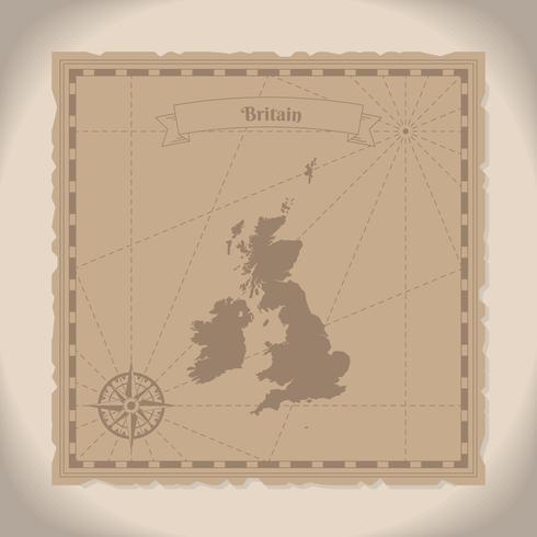 英國舊地圖插畫下載