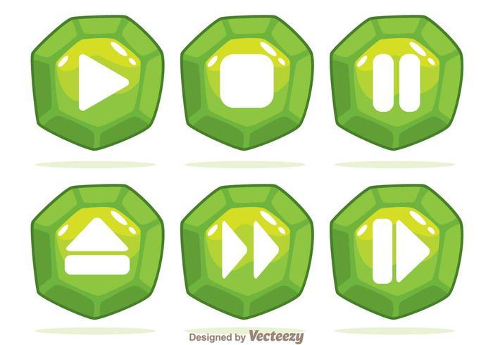 グリーンジェムボタンパターンfree download