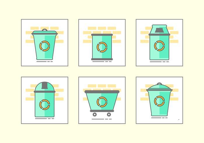 緑の不用のバスケットiconline アイコン 素材無料ダウンロード