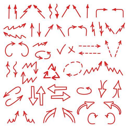 白い上に孤立した手描きの矢印。ビジネスチャート、グラフ、インフォグラフィックフリー 背景ダウンロード