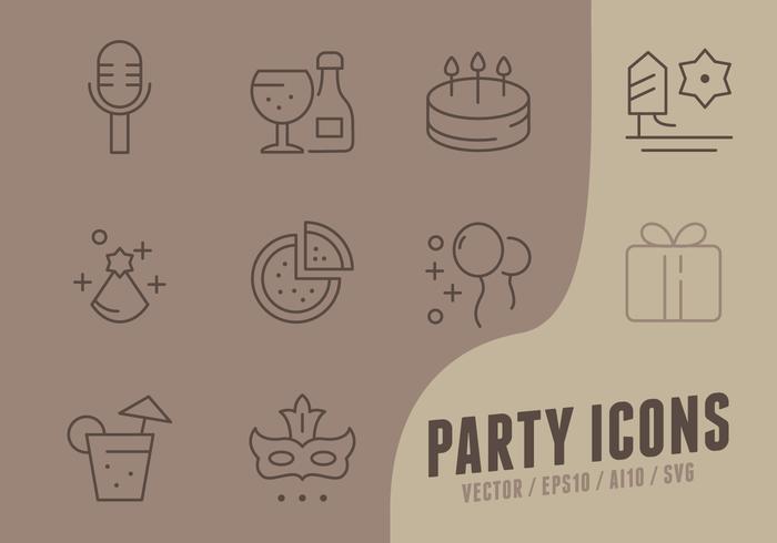 生日快樂集合icon商標素材免費下載