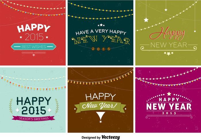 新年快樂復古徽章圖片下載