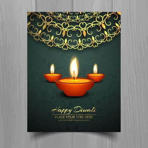 快樂排燈節油燈節宣傳冊模板設計圖片素材包下載