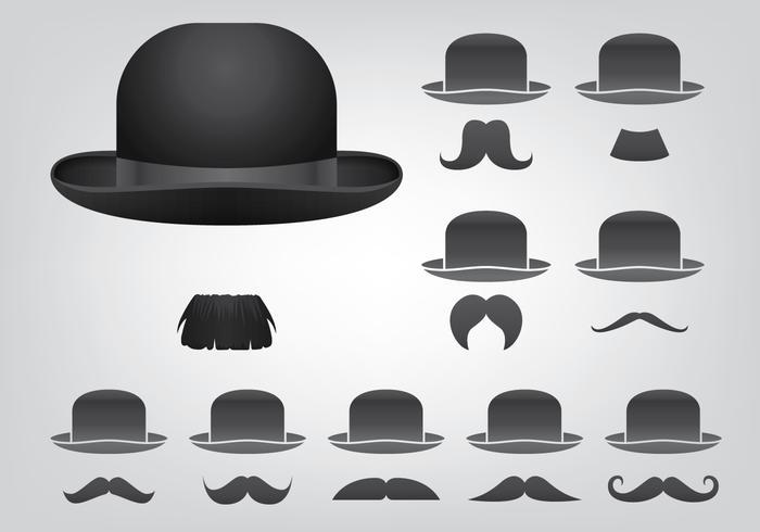 帽子と口ひげiconアイコン素材集ダウンロード