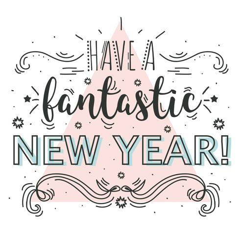 新年快樂嗎向量素材免費下載