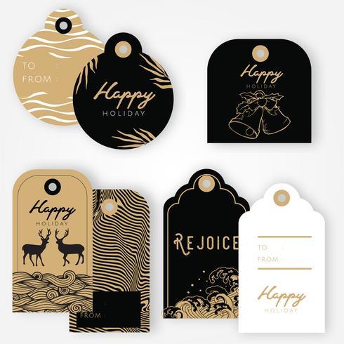 【节日礼物标签图案】精美的节日礼物标签图案下载,精致的插图素材包下载