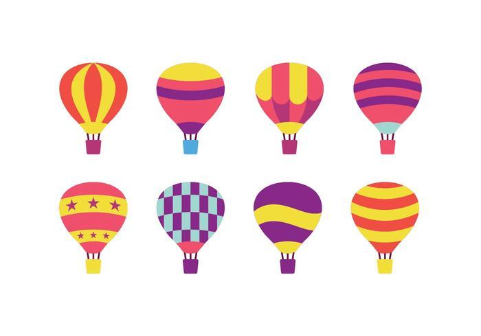 熱氣球向量圖示免費下載