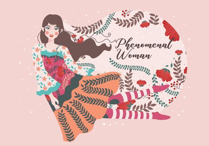 国際女性デー無料 イラスト無料ダウンロード綺麗なパターン 型紙無料