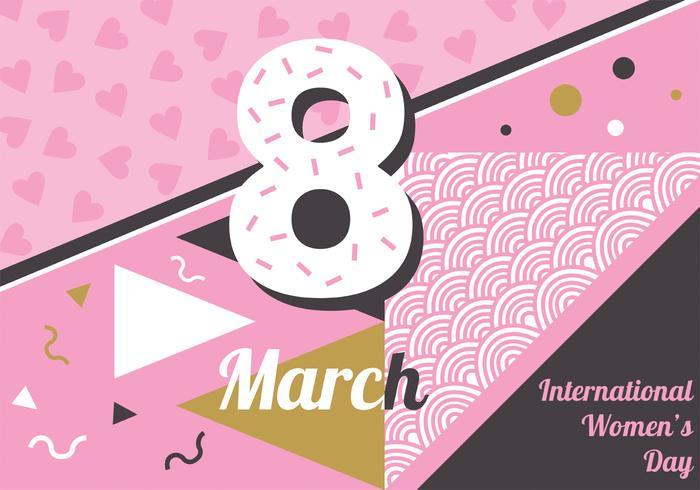 国際女性デーデザインパターン素材集ダウンロード