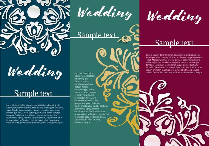 招待状カードの結婚式パターン素材無料ダウンロード