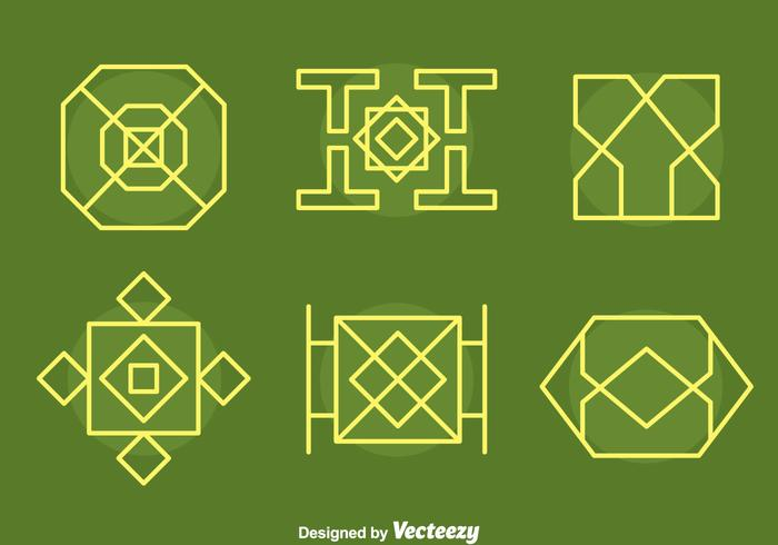 【伊斯兰装饰收藏向量图形】套版可用的伊斯兰装饰收藏向量图形下载,细致的标志下载