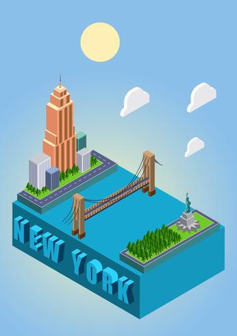 【等距纽约图片】排版用的等距纽约图片下载,华丽的插图素材包下载