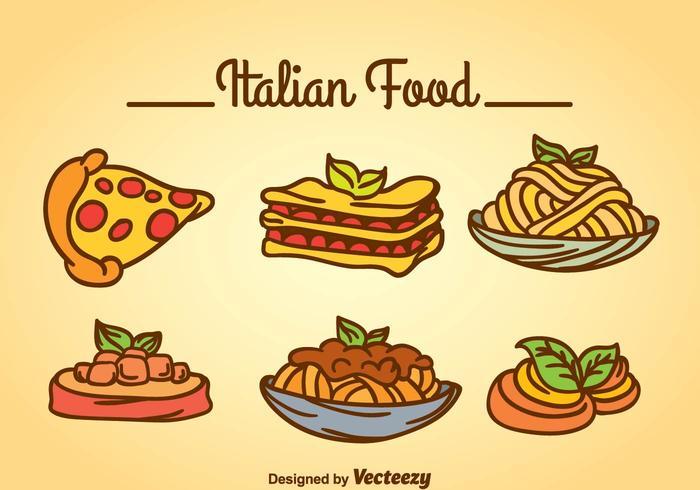 イタリア料理free イラストオシャレイタリア料理free イラスト