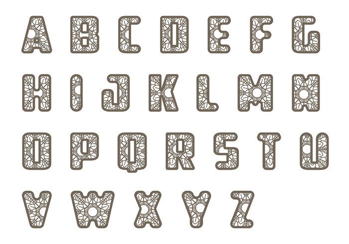 花邊letras向量圖素材下載