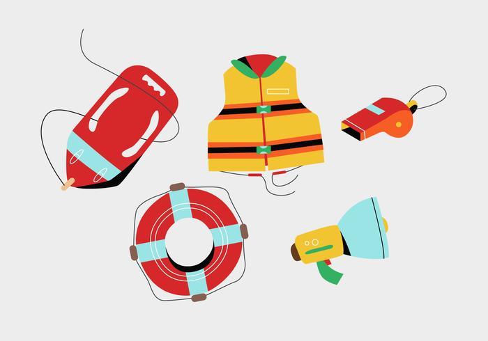 【平面救生工具和安全用品插图】可编辑的平面救生工具和安全用品插图下载,有设计感的可爱图免费下载