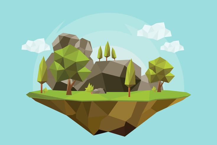 幾何森林向量圖形素材下載