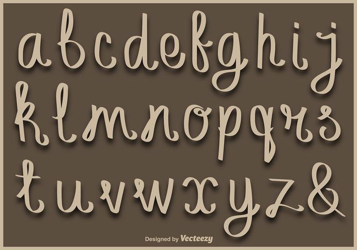 小寫手寫字母字母圖片素材下載