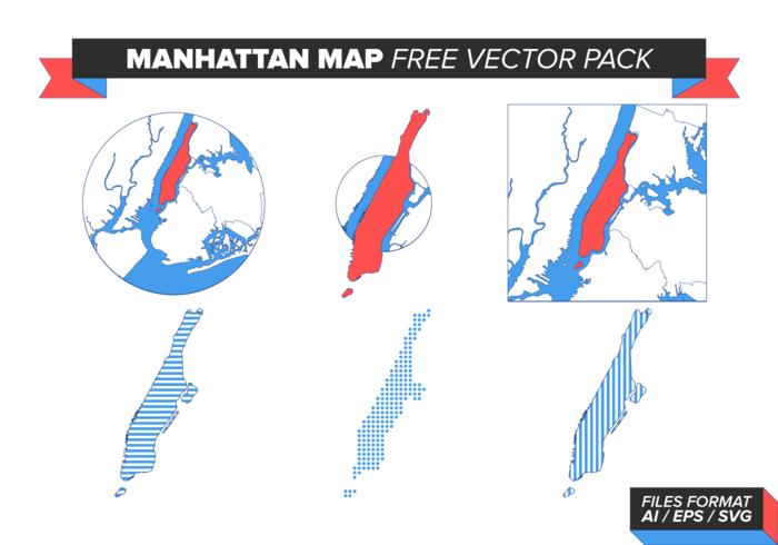 曼哈頓地圖向量素材下載