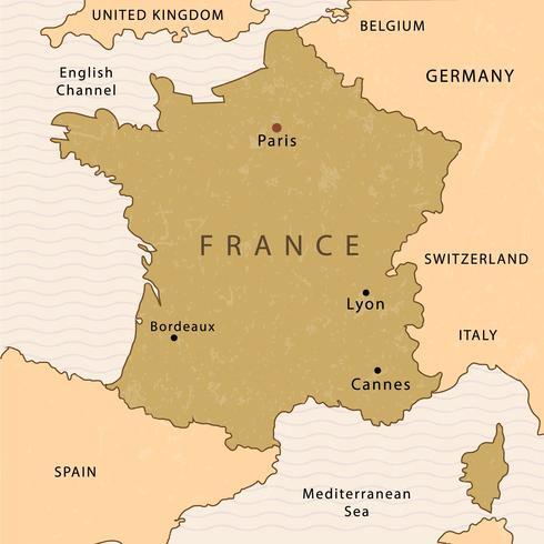 法國地圖插圖素材下載,做AI素材下載