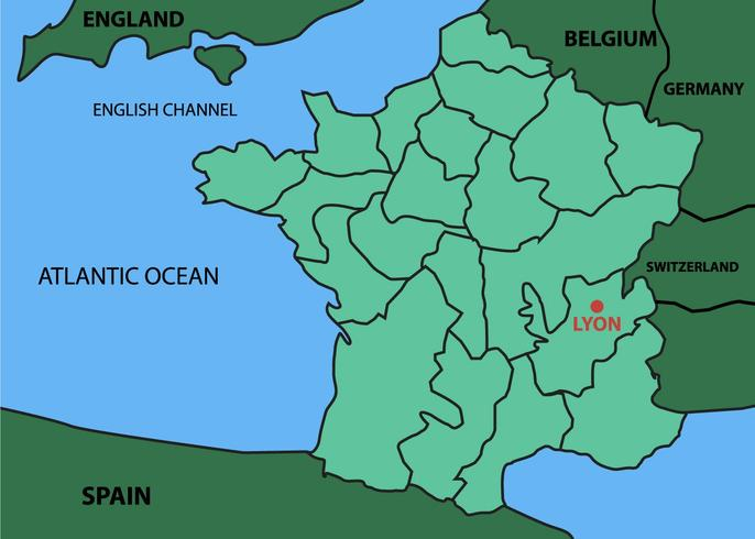 里昂城市地圖圖案素材下載