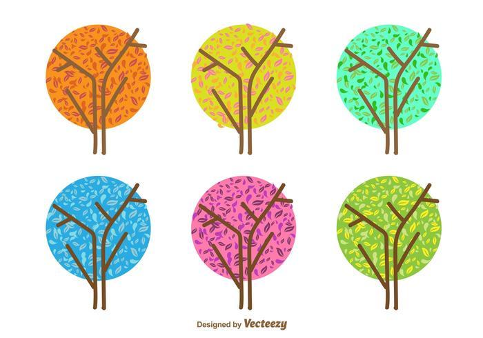 最低の季節の木パターンダウンロード
