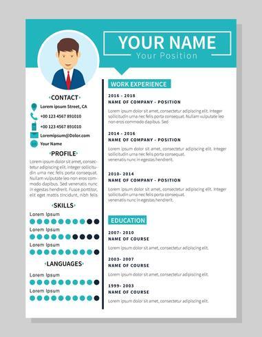 会社の履歴書テンプレートイラスト素材素材ダウンロード