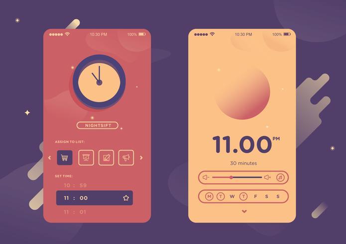 モバイルアプリのパターン素材ダウンロード