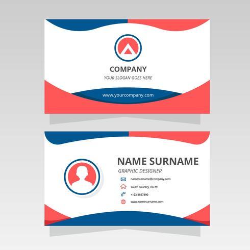 グラフィックデザイナーのための現代の名刺パターン無料