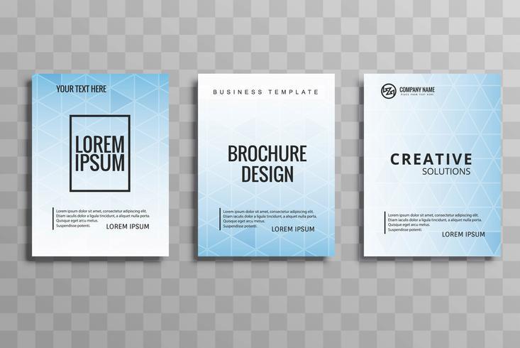 現代のビジネスパンフレットパターンfree download