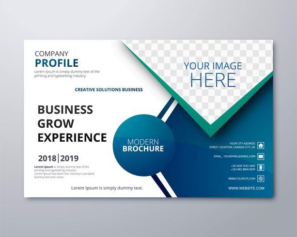 近代的なビジネス-パンフレットテンプレートパターン無料