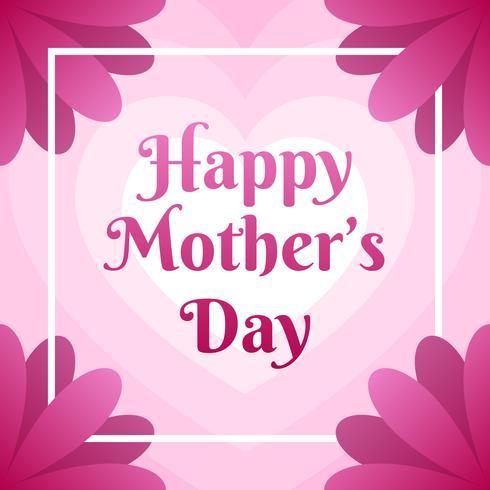 鮮花盛開母親節賀卡圖案素材下載