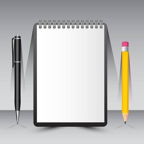 ペンと鉛筆でノートパターン無料