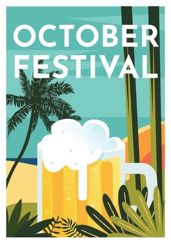 十月啤酒節設計矢量圖形免費下載