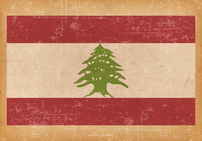 黎巴嫩的舊垃圾國旗圖片素材免費下載