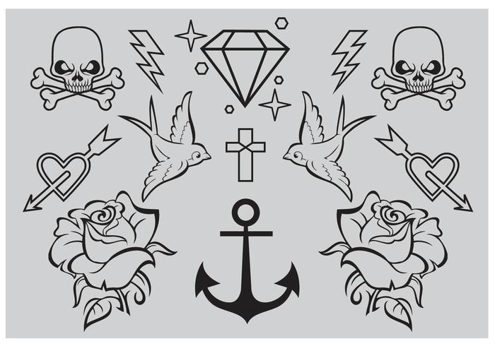 舊學校的紋身圖案下載