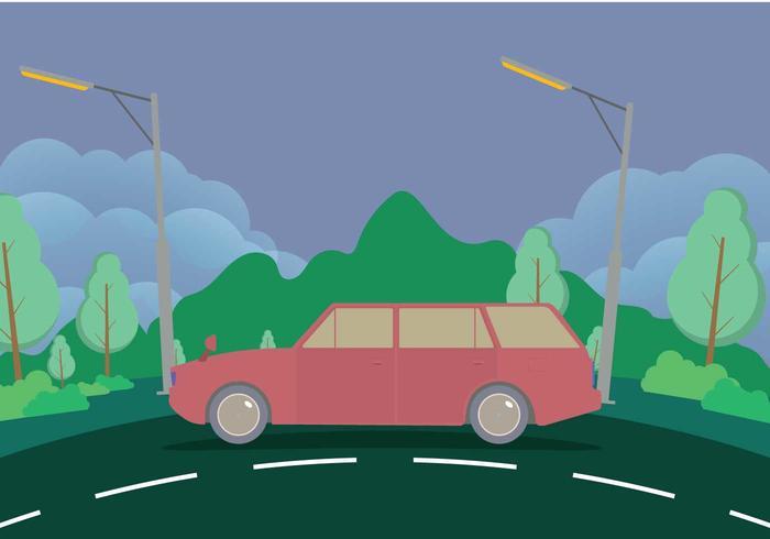 有山的舊旅行車圖片素材免費下載