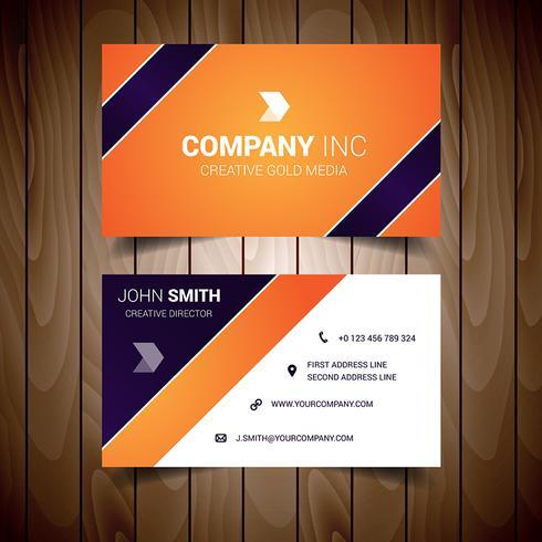 橙色和深藍色公司名片插圖下載,卡通圖案下載