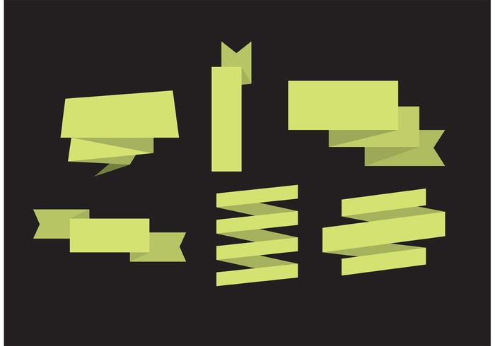 摺紙絲帶向量下載,logo素材下載